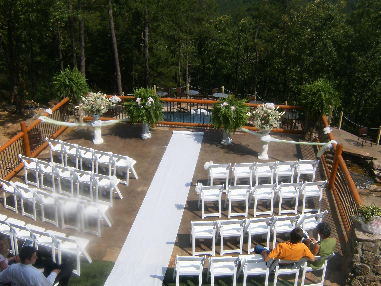 little rock wedding venue set up with chairs